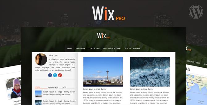 free wix themes