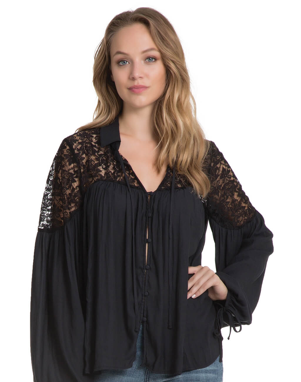 Ladies : Long Sleave Top Black