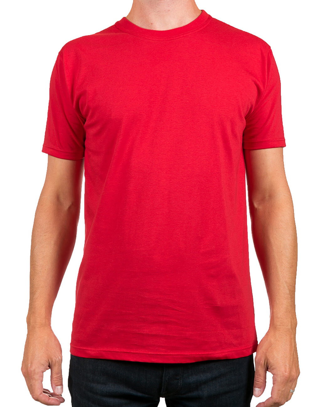 Mans : Half Sleave T-shirt Red