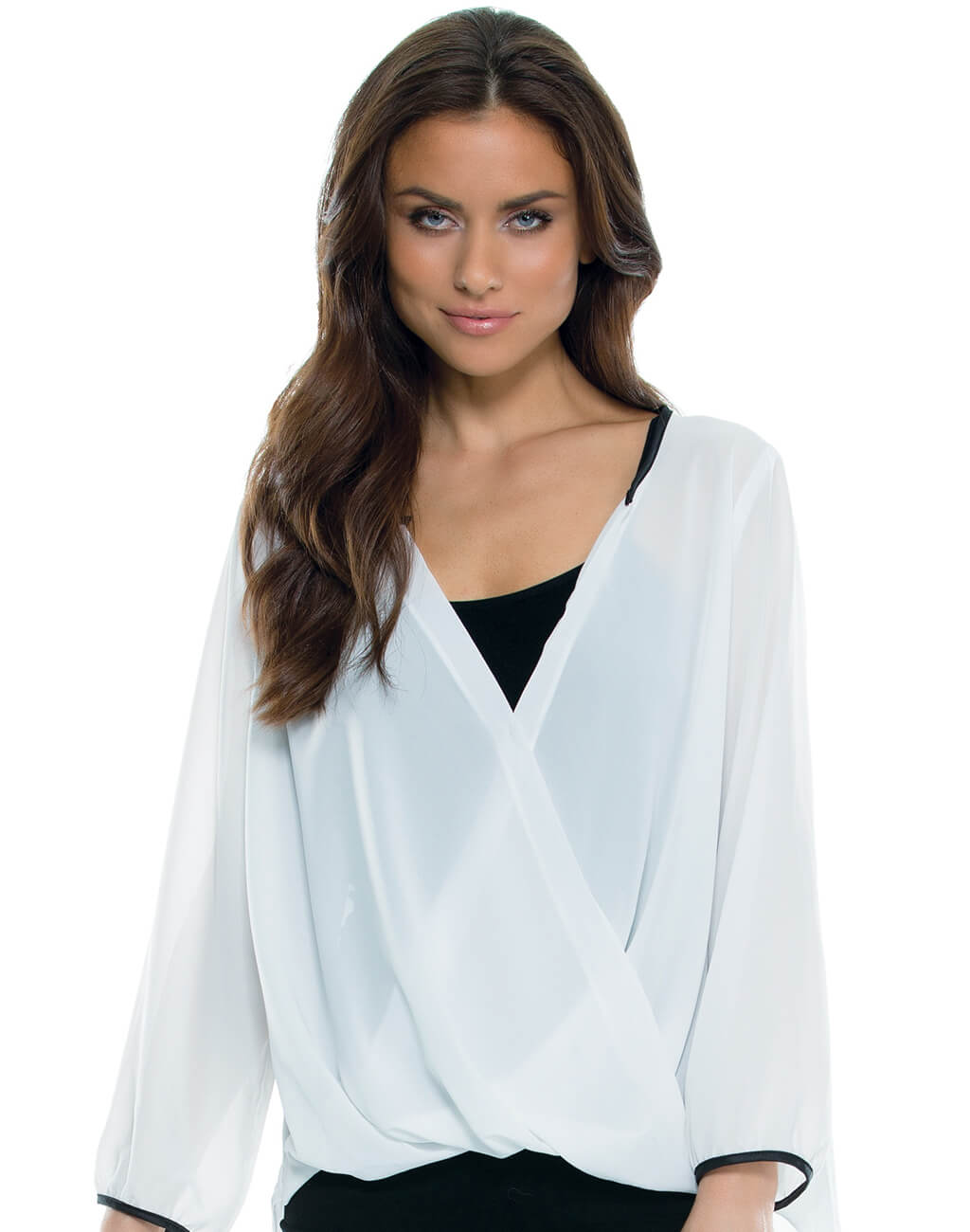 Ladies : Long Sleave White Top