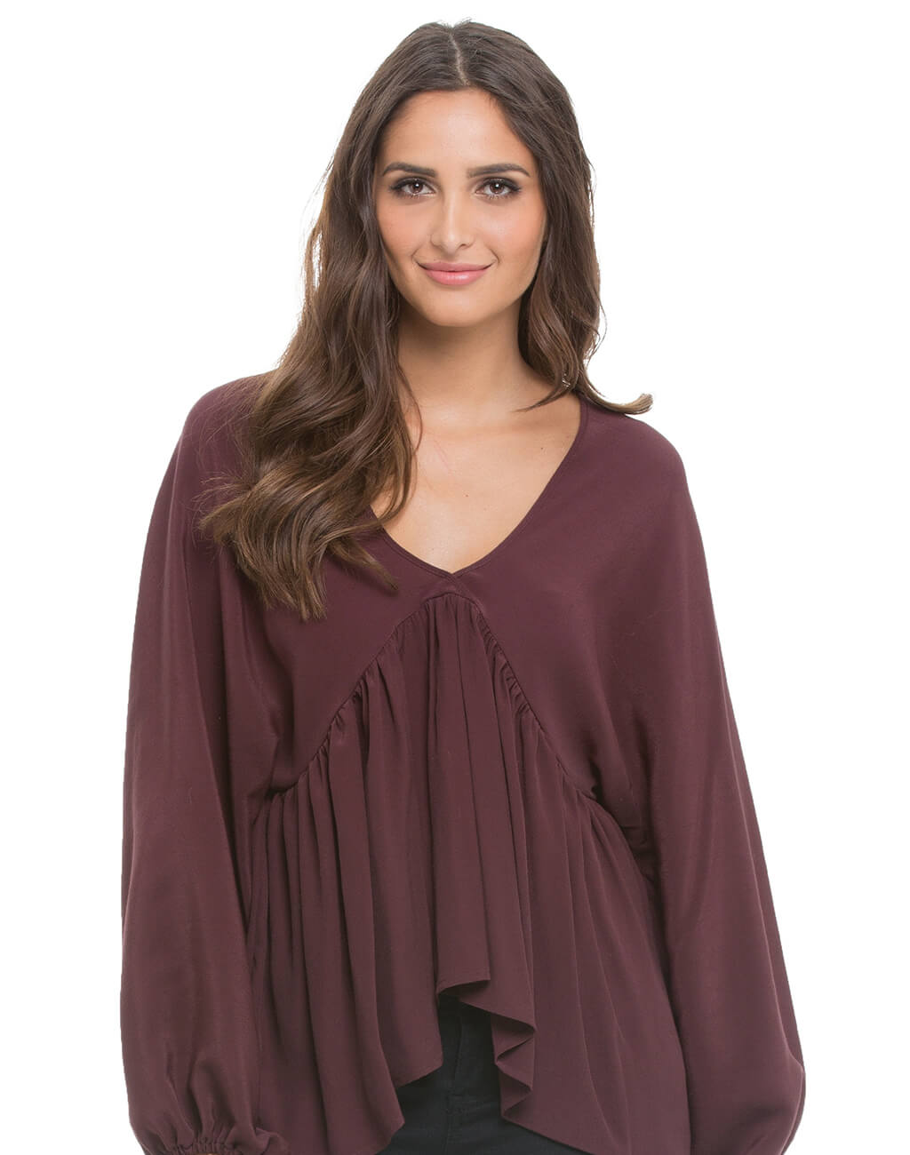 Ladies : Long Sleave Top Brown