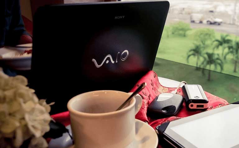 Working with Sony Vaio laptop