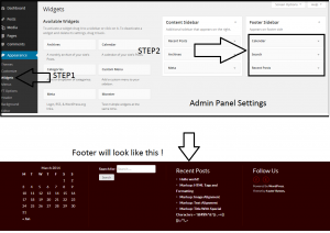 How to setup footer of your website.