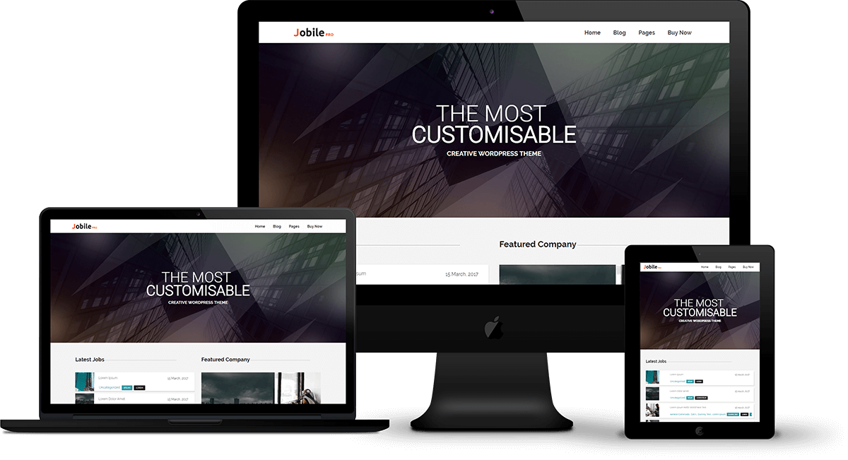 Jobile Pro Wordpress Theme Fasterthemes